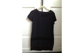 """What Comes Around Goes Around"" Black Silk Dress – Size Small"
