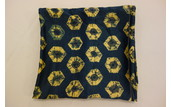 Beautiful Blue Silk Scarf With a Yellow Tie Die Pattern